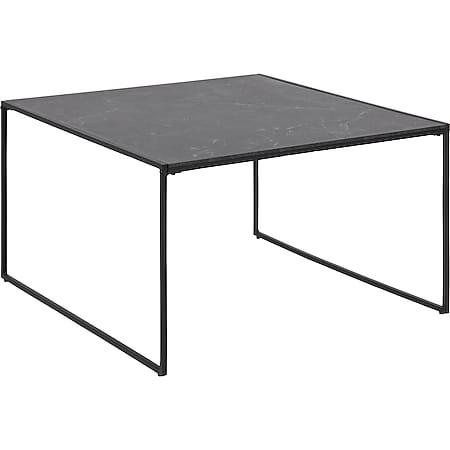 Infors Couchtisch schwarz Marmordruck Wohnzimmer Beistelltisch Tisch Sofatisch - Bild 1