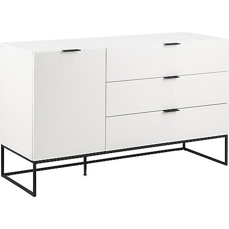 Koch Sideboard 1 Tür 3 Schubladen weiss Kommode Schrank Wohnzimmer Board - Bild 1