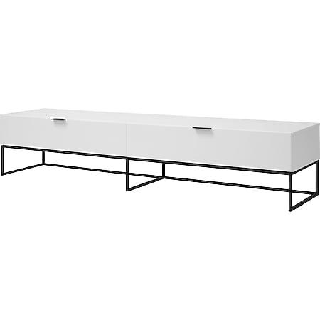 Koch TV Tisch Klapptür Schublade weiß Lowboard Schrank Kommode Fernsehschrank - Bild 1