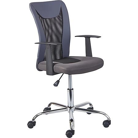 Dons Bürostuhl grau Computerstuhl Chefsessel Schreibtischstuhl Büro  Sessel - Bild 1