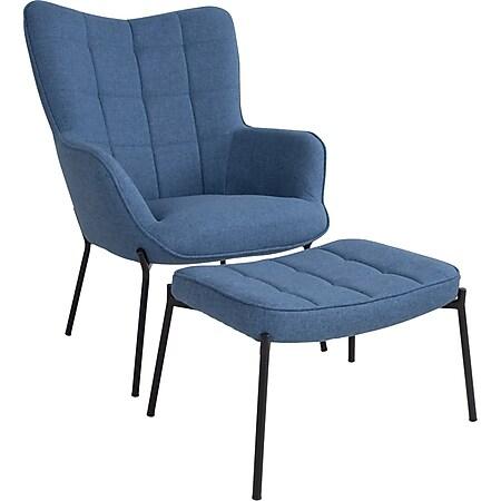 Glow Sessel blau Esszimmer Stuhl Wohnzimmer Clubsessel Cocktailsessel Lounge - Bild 1