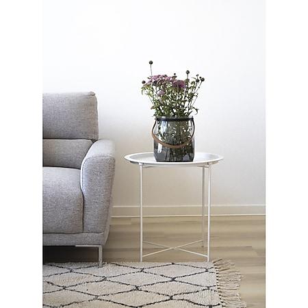 Baro Couchtisch weiss Ecktisch Wohnzimmer Beistelltisch Tisch Wohnzimmertisch - Bild 1