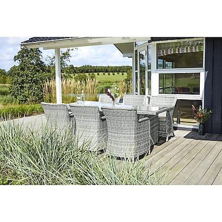 2x Gram Gartenstuhl Modell 3 + Sitzkissen natur offwhite Polyrattan Garten Möbel - Bild 1