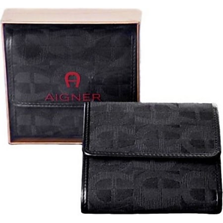 AIGNER Original Damen Geldbörse Portemonnaie Leder Portmonee schwarz - Bild 1