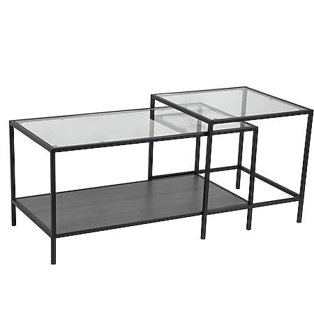 Couchtisch Sea Glastisch Wohnzimmer Tisch Glas Sofatisch Beistelltisch - Bild 1