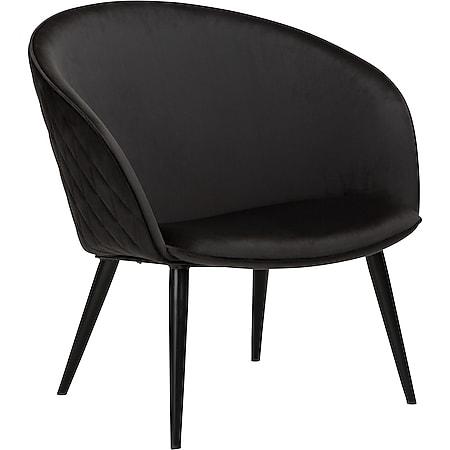 Velours Sessel Danform Dual schwarz Polstersessel Loungesessel Clubsessel - Bild 1
