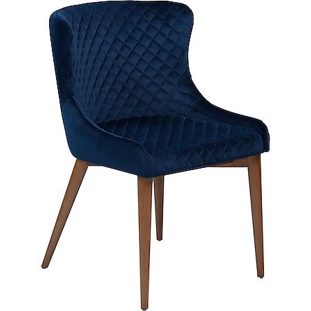 Esszimmerstuhl Danform Vetro Velours blau Polsterstuhl Küchenstuhl Stuhl - Bild 1