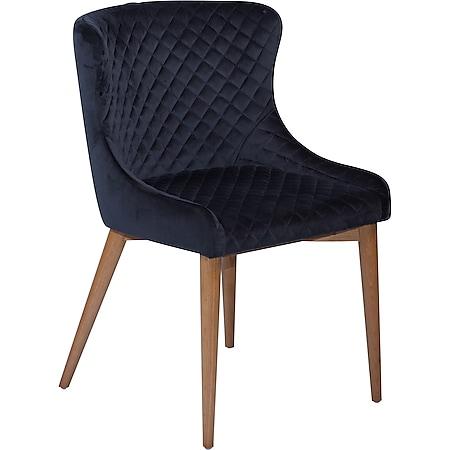 Esszimmerstuhl Danform Vetro Velours schwarz Polsterstuhl Küchenstuhl Stuhl - Bild 1