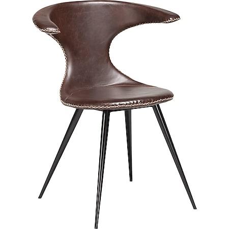 2x Kunstleder Esszimmerstuhl Danform Küchenstuhl Stuhl  Set Polsterstuhl kakao - Bild 1