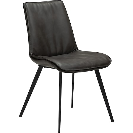 2x Kunstleder Esszimmerstuhl Danform Küchenstuhl Stuhl  Set Polsterstuhl grau - Bild 1