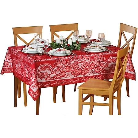 Spitzen Tischdecke 135x180 Tisch Decke Tafel Tuch Tischläufer eckig - Bild 1