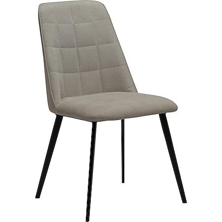 2x Esszimmerstuhl Danform Stoff Küchenstuhl Polster Stuhl Set Stühle sand - Bild 1