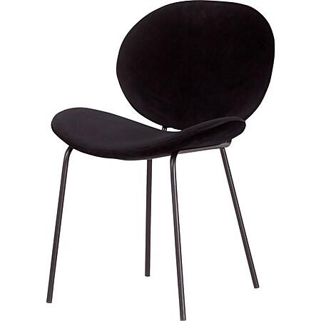 2x Esszimmerstuhl Salut Velours Samt schwarz Polsterstuhl Küchenstuhl Stuhl Set - Bild 1