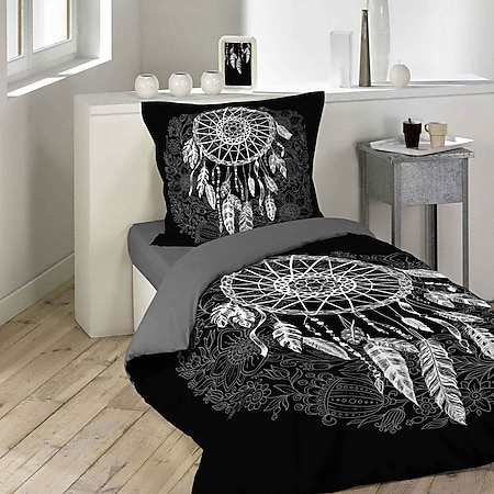 2tlg Wende Bettwäsche 140x200 Traumfänger Baumwolle Bettdecke Bett Bezug Decke - Bild 1