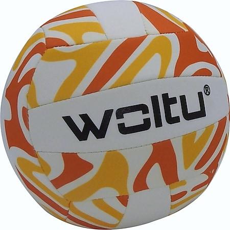 Neopren Volleyball orange Beachvolleyball Beachball Ball Neoprenball Wasserball - Bild 1