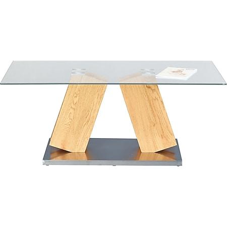 Onan Couchtisch Wildeiche dekor Holz Wohnzimmer Beistelltisch Tisch Sofatisch - Bild 1