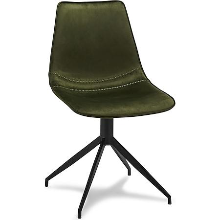 2x Isabel Esszimmerstuhl Drehstuhl Samt grün Sitzgruppe Stuhl Esszimmer Stühle - Bild 1