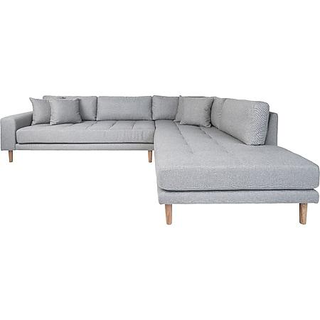 Lido Ecksofa rechtgewendet hellgrau Couch Garnitur Wohnzimmer Sitzmöbel Möbel - Bild 1