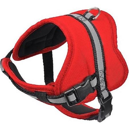 Hundegeschirr Gr. L 71-96 cm rot Brustgeschirr Sicherheitsgeschirr Hund Geschirr - Bild 1