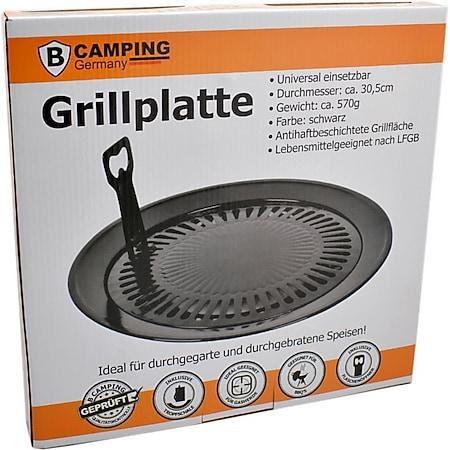 Camping Grillplatte Universal Ø30,5cm Grillaufsatz Campingkocher Grillrost Grill - Bild 1