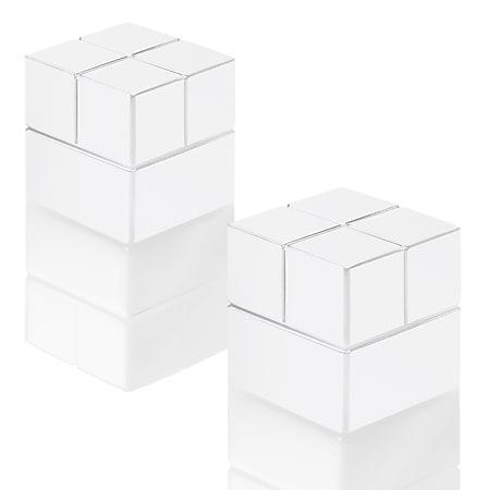 2x SIGEL GL723 SuperDym Magnete Alu weiß f. Glas Magnettafeln Würfelmagnet - Bild 1