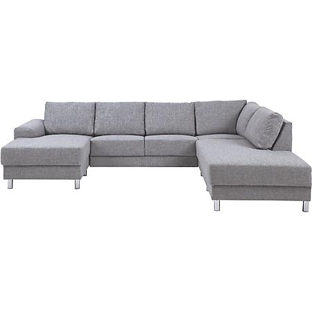 PKline Sofa in hellgrau  Couch Zweisitzer Möbel Chaiselounge Wohnlandschaft - Bild 1