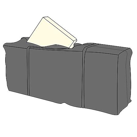 LEX Schutzhülle für 4 Gartenmöbelauflagen, 125x32x50cm, Tragetasche mit Tragegriffen und Reißverschluss - Bild 1