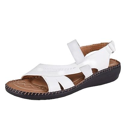 VIVALITY Damen Bequem Sandale, Weiß/38 /weiß - Bild 1