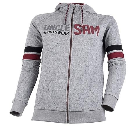 SAM Damen Kapuzenjacke, XL, Grey Melange - Bild 1