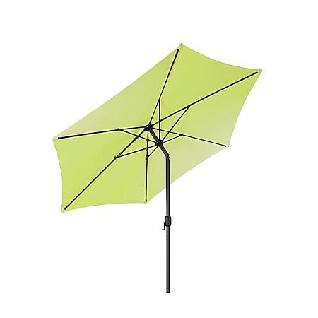 LEX Sonnenschirm mit Knick-Funktion, Ø 3m, Limegrün - Bild 1