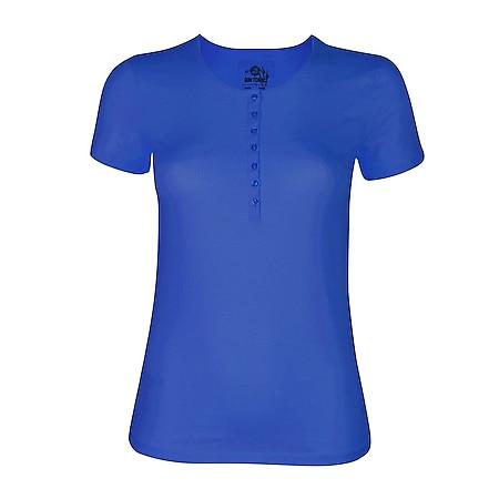 GIN TONIC Damen Basic T-Shirt... M (40/42), Royal Blue - Bild 1