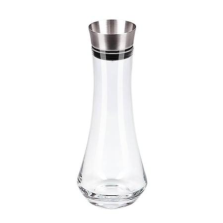 CHG Pura medio Glaskaraffe Wasserkaraffe Edelstahl-Ausgießer 0,7 Liter ca. Ø 10 x 27,5 cm - Bild 1