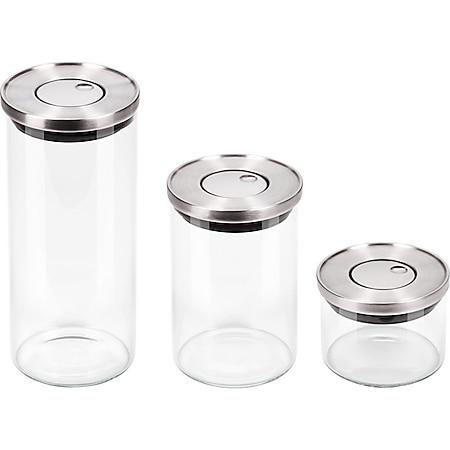 CHG Pura trio Vorratsgläser  Vorratsglas Vorratsdosen  Glasbehälter 3er Set - Bild 1