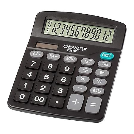 GENIE 225BD Solar Tischrechner Rechenmaschine Rechner Bürorechner Taschenrechner - Bild 1