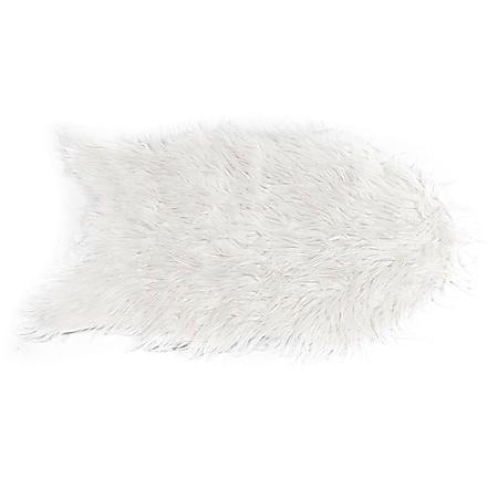 LEX Kunstfell Vorleger Schneeweiß 90 cm x 60 cm - Bild 1