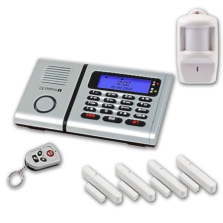 OLYMPIA Protect 6061 Funk Alarmanlage 4 Tür-/Fensterkontakte und Bewegungsmelder - Bild 1