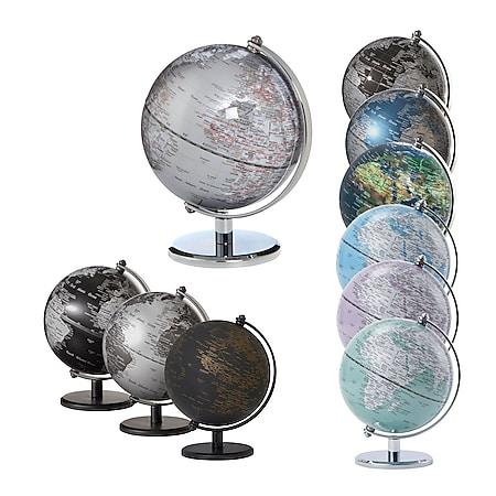 EMFORM Gagarin Globus Mini-Globus mittige Achse Metallfuß versch. Farben Farbe: Matt Schwarz - Bild 1