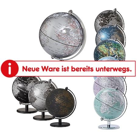 EMFORM Gagarin Globus Mini-Globus mittige Achse Metallfuß versch. Farben Farbe: Schwarz - Bild 1