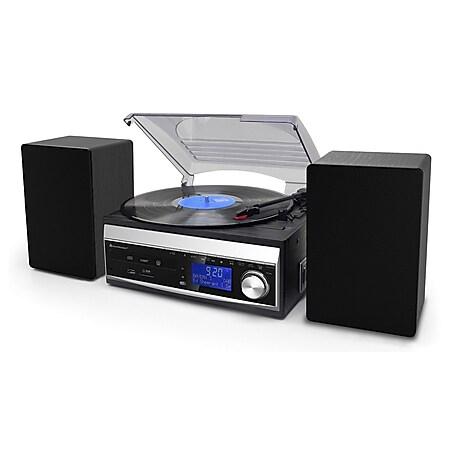 Soundmaster MCD1820SW Musikcenter mit Plattenspieler, CD, Kassette, DAB+, USB - Bild 1
