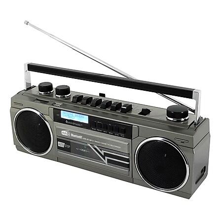 Soundmaster SRR70TI Retro Radio- u. Kassettenrekorder mit DAB+, BT, USB, SD - Bild 1
