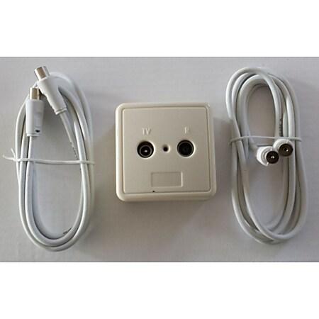 Wittenberg Kabel-TV Anschluss-Set einfach, verschiedene Größen Größe: 2,5 m - Bild 1