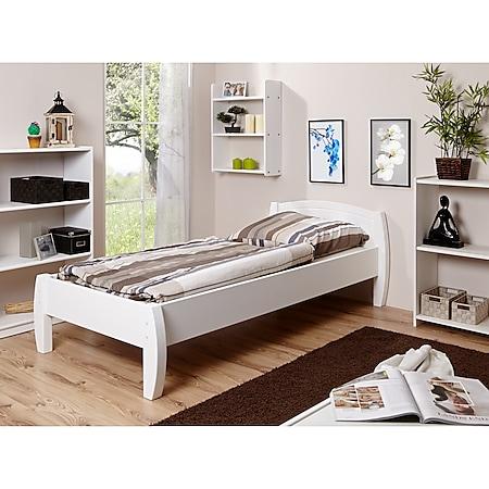 TiCAA Bett Jasmin Kiefer Weiß - Bild 1