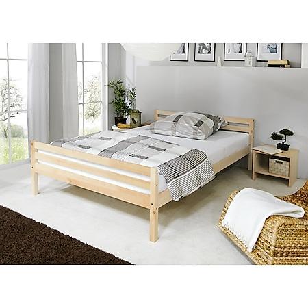 TiCAA Einzelbett Doppelbett Nadine 140x200 Kiefer - Bild 1