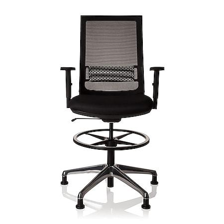 hjh OFFICE Arbeitsstuhl Arbeitshocker TOP WORK 99 mit Armlehnen (höhenverstellbar) - Bild 1