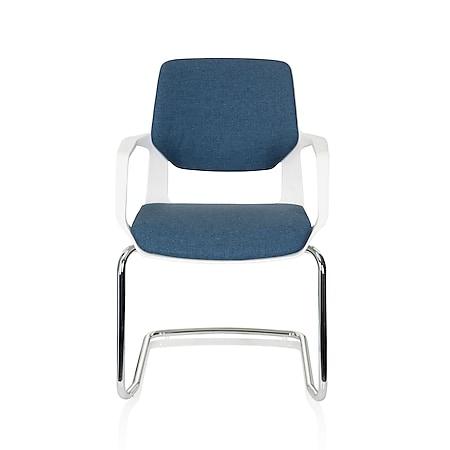 hjh OFFICE Besucherstuhl Konferenzstuhl FREE V WHITE mit Armlehnen - Bild 1