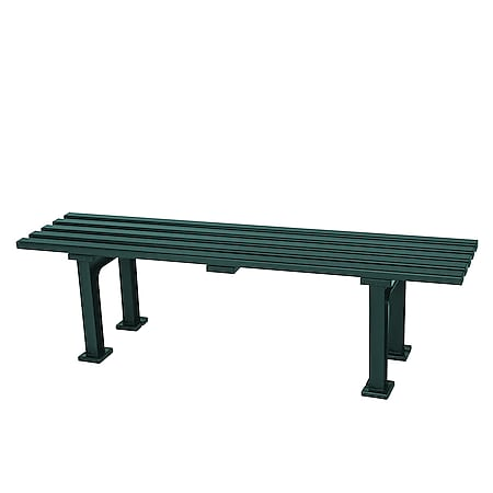 gartenmoebel-einkauf Hockerbank MONO 3-sitzer, Kunststoff grün - Bild 1