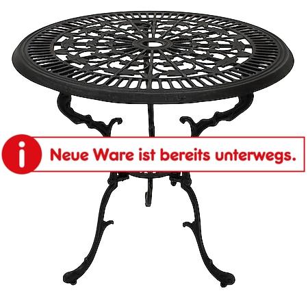 DEGAMO Tisch Jugendstil 70cm rund, Aluguss grau antik - Bild 1