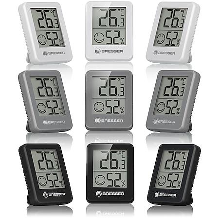 BRESSER Temeo Hygro Indikator 3er Set Thermo-/Hygrometer Farbe: schwarz - Bild 1
