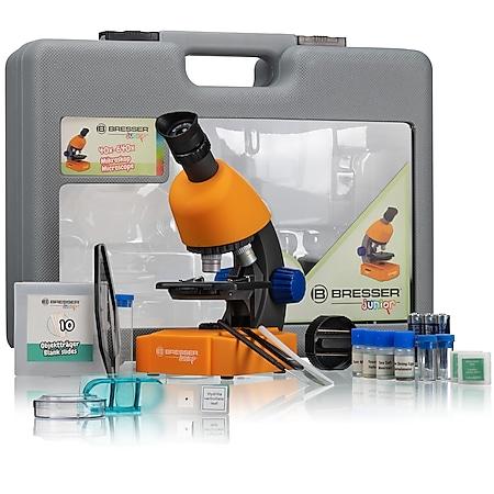 BRESSER Junior 40x-640x Mikroskop mit Zubehör und Transportkoffer - Bild 1