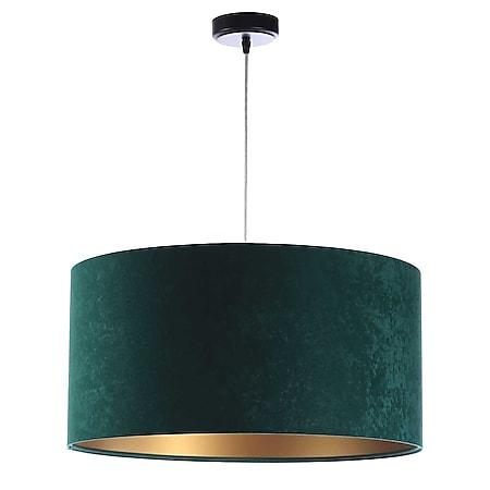 Pendelleuchte Hängeleuchte Jalua P Velours green & gold Ø 40 cm 10962 - Bild 1